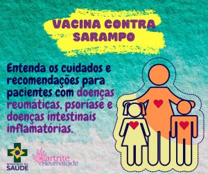 """alt=""""Vacina contra sarampo e reumáticos"""""""